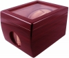 2+1 Redwood Dual Watch Winder Box AC/DC & Battery Operated